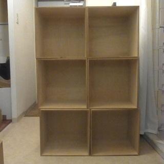 木製ボックス収納 6つセット