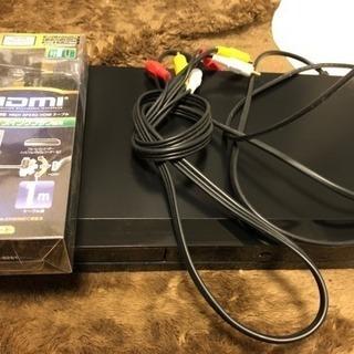 DVDプレーヤーと接続ケーブル