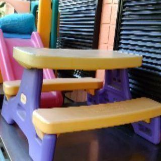 「交渉中」無料、外用子供テーブル、外用滑り台