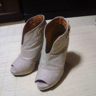 ブーティー ブーツ ヒール 10cm サイズS パンプス 美品