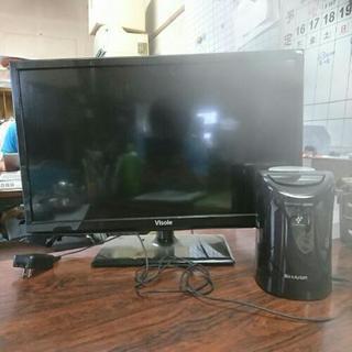 テレビのディスプレイと空気清浄機