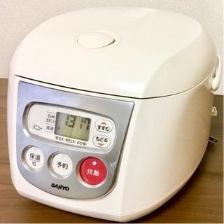 【中古・無料】5合炊き マイコン炊飯器 SANYO ECJ-HT10