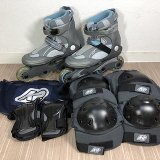 K2 インラインスケート 22.5~23cm プロテクター付き