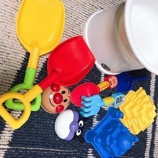 アンパンマン 子ども砂場セット♡新品風呂場 椅子と桶