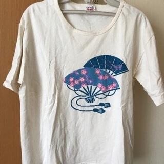 扇子柄 Tシャツ