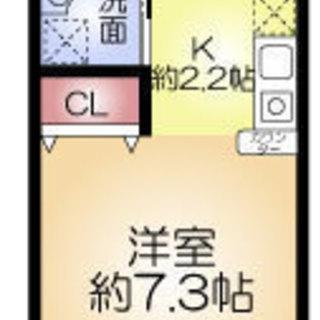姫里2分 家賃35,000円 共益費8,000円 24.18㎡