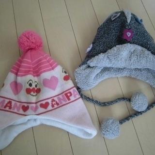 女の子 ニット帽2つセット(46~48センチ)(投稿管理番…