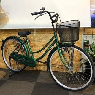 26インチ 自転車 グリーン ママチャリ