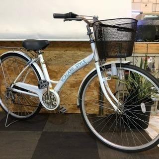 [6段変速]27インチ自転車 ホワイト