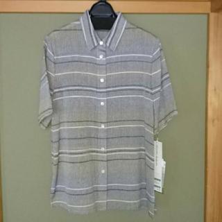 絹100%紳士半袖シャツ