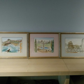イタリア風景画 ポスターアート5種セット