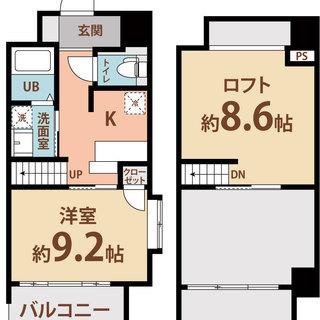 姫里5分 家賃35,500円 共益費7,500円 30㎡