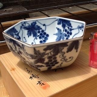 たち吉の盛鉢、未使用品  橘吉、ぶどう絵で共箱付 和皿、和食器 ...