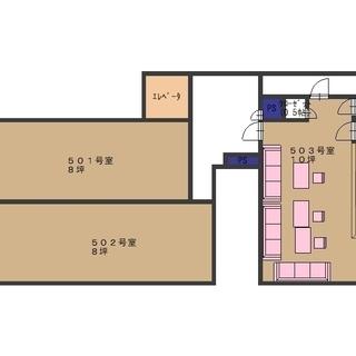 桜井郵便局の隣、全20店舗のスナックビルの空き物件です。503号