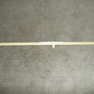 木目柄カーテンレール1間用伸縮式 2m~1.1m シングルレール