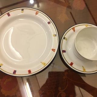 リチャードジノリ(クリッパー) カップ&ソーサー、ケーキ皿