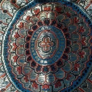 高級シルク金糸刺繍 ストール手織りセンターランナー未使用1…
