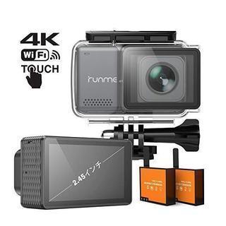 新品 買いお得 4K アクションカメラ 2.45インチ