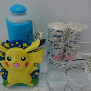 電動かき氷器とカップのセット