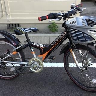 <良品車>ブリジストン・ジュニア自転車・シマノ6段変速・ブラック