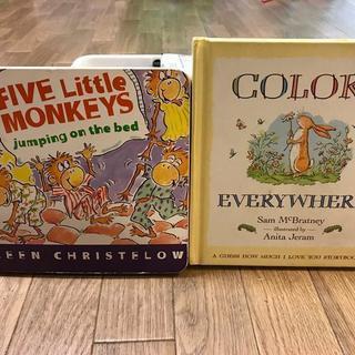 絵本 英語 「FIVE LITTLE MONKEYS」「COLOR...