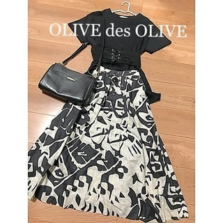 ☆OLIVE des OLIVE☆編み上げベルト付きカットソー