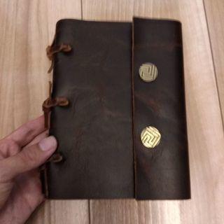 【未使用品】革製のメモ帳