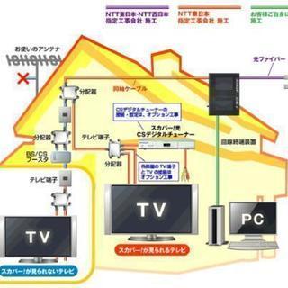 テレビ線分配工事や簡単な電気工事❗出張見積り無料‼️民泊🆗‼️