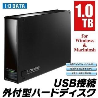 1テラバイト 1000ギガバイト TV、PC用一般IOデータ外付け...