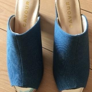 デニム靴24cm