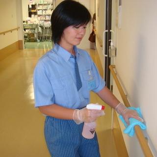 短時間OK! 病院内の日常清掃スタッフ募集