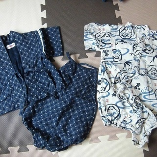 男の子 浴衣(80センチ) 2組セット (投稿管理番号:60)