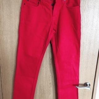 新品★メンズ★Hollister★赤パンツ★