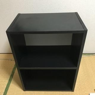 カラーボックス2段 黒