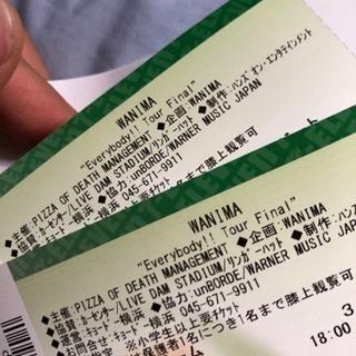 WANIMA ワニマ ライブチケット Everybody fin...