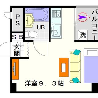 【PAL・HOUSE88】2号タイプ!1Rタイプ!デザイナーズ風の...