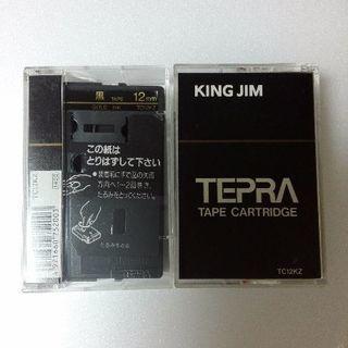 テプラTR テープ 黒ラベル