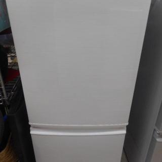 2ドア冷蔵庫 137L  シャープ SJ-14X-W 白