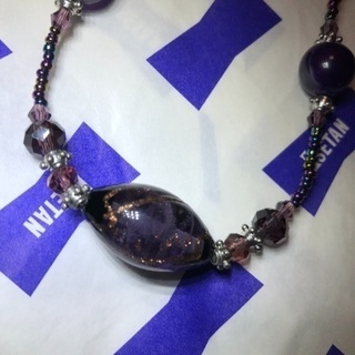 新品 とんぼ玉と天然石のネックレス