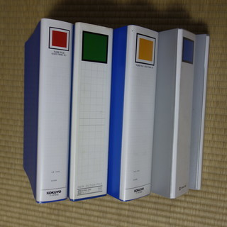 ◆厚手チューブファイル5個◆フラットファイル4枚
