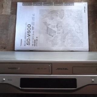 TOSHIBA 東芝 VHS/DVD一体型プレーヤー SD-V6...