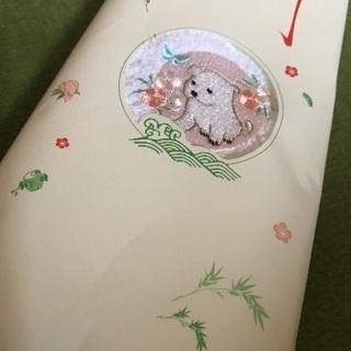 タオル 犬刺繍 綿100%. 志野製