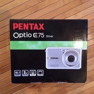 ジャンク。PENTAX Optio E75 デジカメ