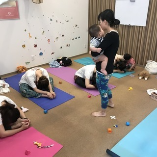9月 奈良で子連れヨガ