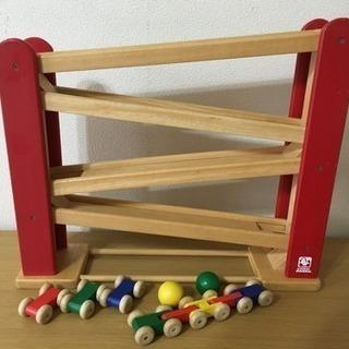 木のおもちゃ 「くるくるスロープ」知育玩具 アトリエモック