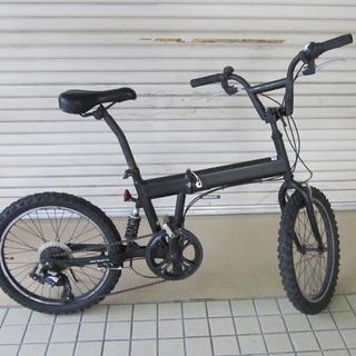 宮の沢店 20インチ 折りたたみ自転車 6段切替 ブラック