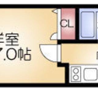長堀橋2分 家賃31,000円 共益費4,500円 21.28㎡ 1K