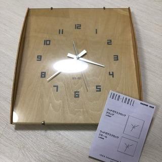 フランフラン ウッドガラスクロック 時計
