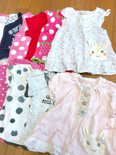 b68dd3f15ee52 赤ちゃん ベビー トップス等 20着セット 80サイズ 女の子ブランドMIX 夏服 − 埼玉県