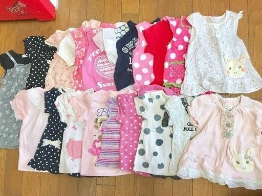 8007cb878fd30 赤ちゃん ベビー トップス等 20着セット 80サイズ 女の子ブランドMIX 夏服の画像